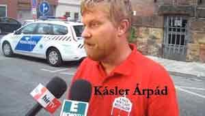 A Haza Nem Eladó Mozgalom Vezetője Kásler Árpád sajtótájékoztatója szabadulása után-Itthon vagyok