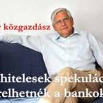 Lóránt Károly Közgazdász-a devizahitelesek spekuláció miatt perelhetnék a bankokat