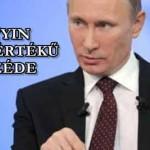 EZ ENNYIRE EGYSZERŰ...Putyin példaértékű beszéde.