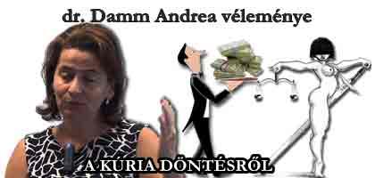A KÚRIA DÖNTÉSRŐL dr. Damm Andrea véleménye