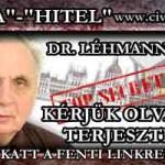 DR. LÉHMANN: TOVÁBBÍTOTT LEVÉL-KÉRJÜK OLVASNI ÉS TERJESZTENI.