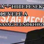 """""""DEVIZA""""-""""HITELESEK"""" LEVELE A KÖZTÁRSASÁGI ELNÖKHÖZ."""