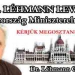 DR. LÉHMANN LEVELE MAGYARORSZÁG MINISZTERELNÖKÉNEK
