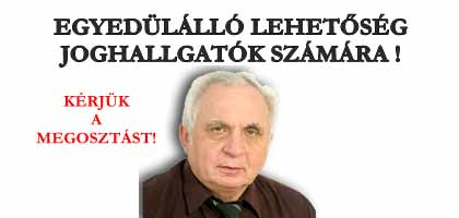 DR. LÉHMANN - FIGYELEM ! EGYEDÜLÁLLÓ LEHETŐSÉG JOGHALLGATÓK SZÁMÁRA !