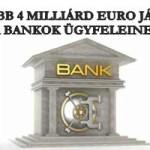 LEGALÁBB 4 MILLIÁRD EURO JÁR VISSZA A BANKOK ÜGYFELEINEK!