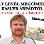 NYÍLT LEVÉL MEGCÍMEZVE – KÁSLER ÁRPÁDTÓL