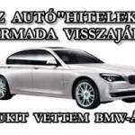 """AZ AUTÓ""""HITELEK"""" HARMADA VISSZAJÁR? AVAGY SUZUKIT VETTEM BMW-ÁRON"""