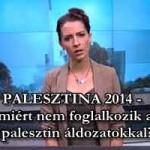 PALESZTINA 2014 - avagy miért nem foglalkozik a sajtó a palesztin áldozatokkal?