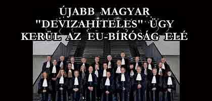 """ÚJABB MAGYAR """"DEVIZAHITELES"""" ÜGY KERÜL AZ EU-BÍRÓSÁG ELÉ."""