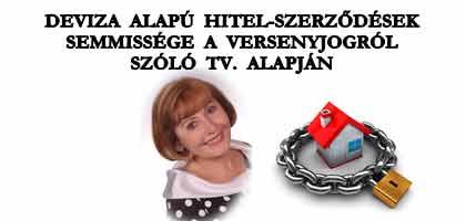 DEVIZA ALAPÚ HITEL-SZERZŐDÉSEK SEMMISSÉGE A VERSENYJOGRÓL SZÓLÓ TV. ALAPJÁN.