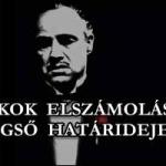 A BANKOK ELSZÁMOLÁSÁNAK VÉGSŐ HATÁRIDEJE.