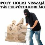 LOPOTT HOLMI VISSZAJÁR -FORINTOSÍTÁS FELVÉTELKORI ÁRFOLYAMON