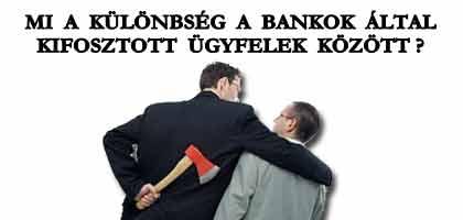 MI A KÜLÖNBSÉG A BANKOK ÁLTAL KIFOSZTOTT ÜGYFELEK KÖZÖTT?
