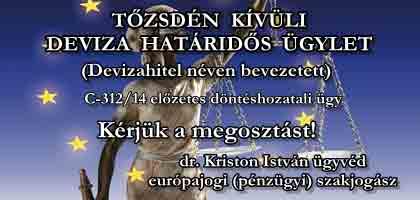 DEVIZAHITEL NÉVEN BEVEZETETT BEFEKTETÉSI ÜGYLET - EU BÍRÓSÁG - ALPERESEK ÍRÁSBELI ÉSZREVÉTELE.