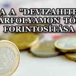 """KACSA A """"DEVIZAHITELEK"""" PIACI ÁRFOLYAMON TÖRTÉNŐ FORINTOSÍTÁSA"""