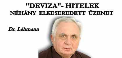 DR. LÉHMANN - NÉHÁNY ELKESEREDETT ÜZENET.
