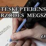 FIZETÉSKÉPTELENSÉG – A SZERZŐDÉS MEGSZŰNIK - OSZD MEG!