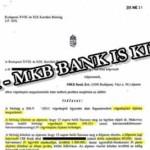 JÓ HÍR - MKB BANK IS KIÜTVE!