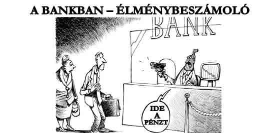 A BANKBAN – ÉLMÉNYBESZÁMOLÓ.
