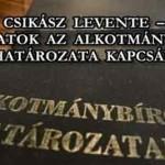 CSIKÁSZ LEVENTE – GONDOLATOK AZ ALKOTMÁNYBÍRÓSÁG HATÁROZATA KAPCSÁN.