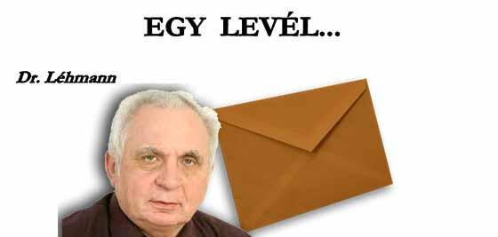 DR. LÉHMANN GYÖRGY - EGY LEVÉL.