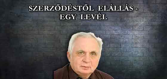 ELÁLLÁS A SZERZŐDÉSTŐL - EGY LEVÉL.