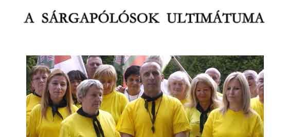 A SÁRGAPÓLÓSOK ULTIMÁTUMA.