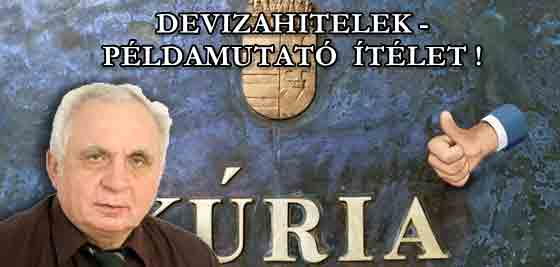 DEVIZAHITELEK - PÉLDAMUTATÓ ÍTÉLET A KÚRIÁN! I. RÉSZ.