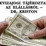 DEVIZAJOGI TÁJÉKOZTATÓ AZ ELÁLLÁSRÓL – DR. KRISTON.