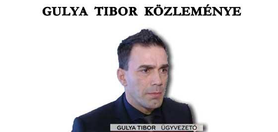 GULYA TIBOR KÖZLEMÉNYE.