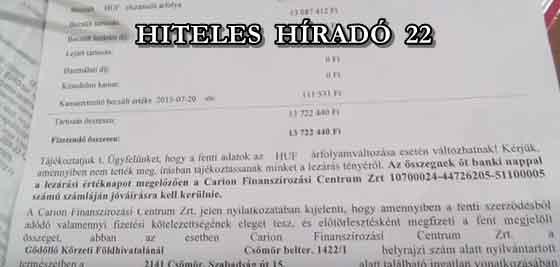 HITELES HÍRADÓ 22.