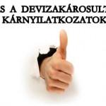 FELHÍVÁS A DEVIZAKÁROSULTAKHOZ-KÁRNYILATKOZATOK