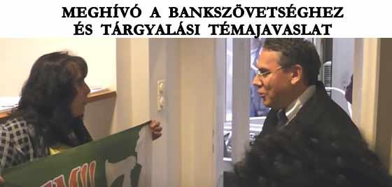 MEGHÍVÓ A BANKSZÖVETSÉGHEZ ÉS TÁRGYALÁSI TÉMAJAVASLAT.