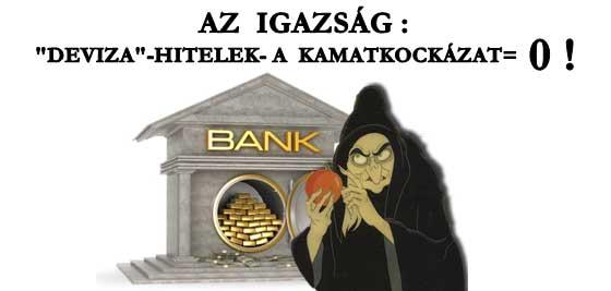 """""""DEVIZA""""-HITELEK-A KAMATKOCKÁZAT 0!"""