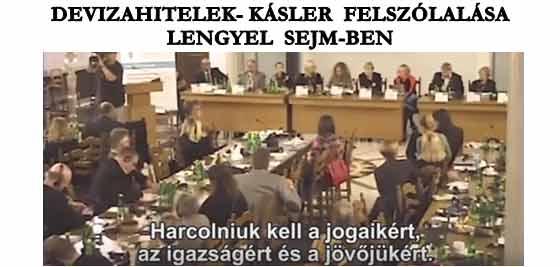 DEVIZAHITELEK-KÁSLER FELSZÓLALÁSA LENGYEL SEJM-BEN.