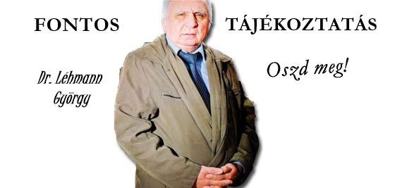 DR. LÉHMANN-FONTOS TÁJÉKOZTATÁS A DEVIZAKÁROSULTAKNAK.