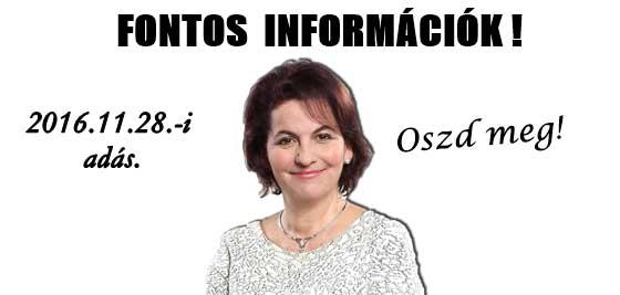 DR. VARGA-DAMM ANDREA - FONTOS INFORMÁCIÓK!