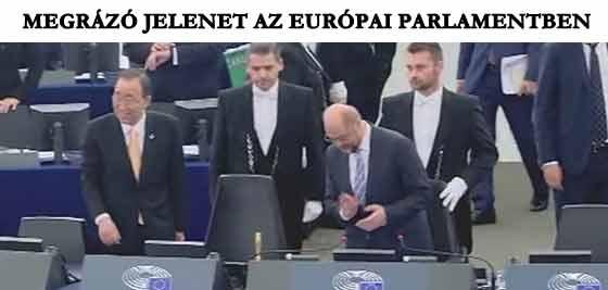 MEGRÁZÓ JELENET TÖRTÉNT AZ EURÓPAI PARLAMENTBEN.