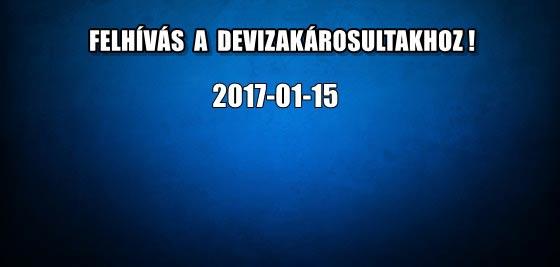FELHÍVÁS A DEVIZAKÁROSULTAKHOZ! 2017-01-15.