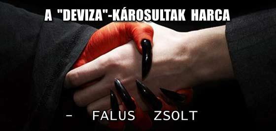 """A """"DEVIZA""""-KÁROSULTAK HARCA - FALUS ZSOLT."""