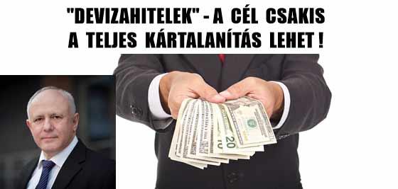 """""""DEVIZAHITELEK""""-A CÉL CSAKIS A TELJES KÁRTALANÍTÁS LEHET!"""