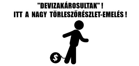 """""""DEVIZAKÁROSULTAK""""! ITT A NAGY TÖRLESZTŐRÉSZLET-EMELÉS!"""