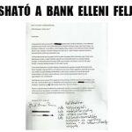 ITT OLVASHATÓ A BANK ELLENI FELJELENTÉS.