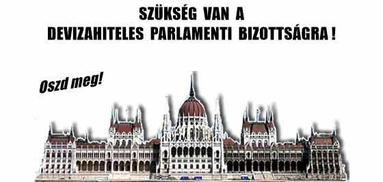 SZÜKSÉG VAN A DEVIZAHITELES PARLAMENTI BIZOTTSÁGRA!