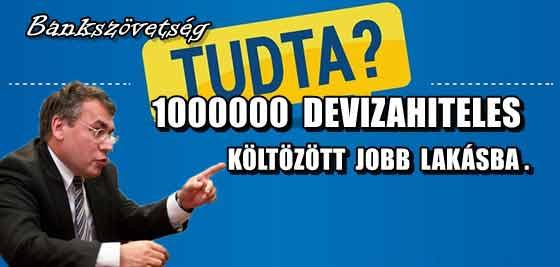 1000000 DEVIZAHITELES KÖLTÖZÖTT JOBB LAKÁSBA.
