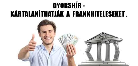 GYORSHÍR-KÁRTALANÍTHATJÁK A FRANKHITELESEKET. TERMÉSZETESEN NEM NÁLUNK!