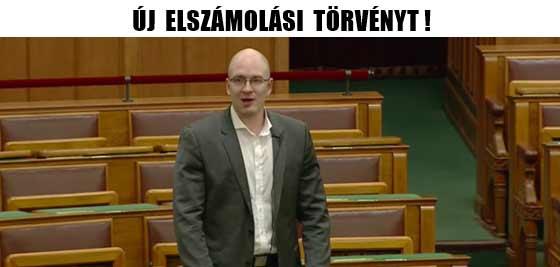 ÚJ ELSZÁMOLÁSI TÖRVÉNYT!