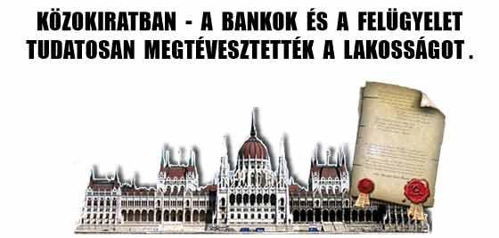 KÖZOKIRATBAN - A BANKOK ÉS A FELÜGYELET TUDATOSAN MEGTÉVESZTETTÉK A LAKOSSÁGOT.