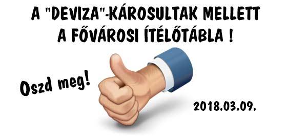 """A """"DEVIZA""""-KÁROSULTAK MELLETT A FŐVÁROSI ÍTÉLŐTÁBLA!"""