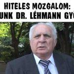 HITELES MOZGALOM: BÚCSÚZUNK DR. LÉHMANN GYÖRGYTŐL.
